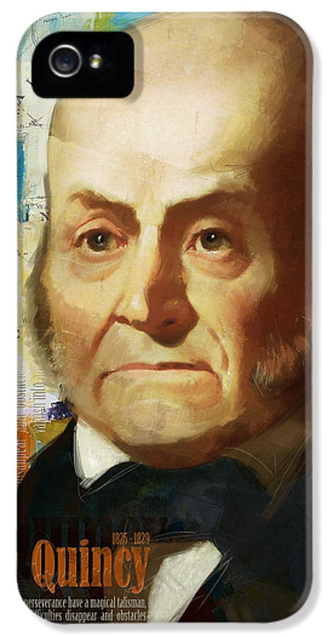 John Quincy IPhone 5 Case featuring the painting John Quincy Adams by Corporate Art Task Force