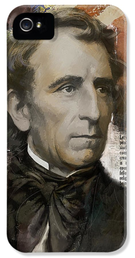 John Tyler IPhone 5 Case featuring the painting John Tyler by Corporate Art Task Force