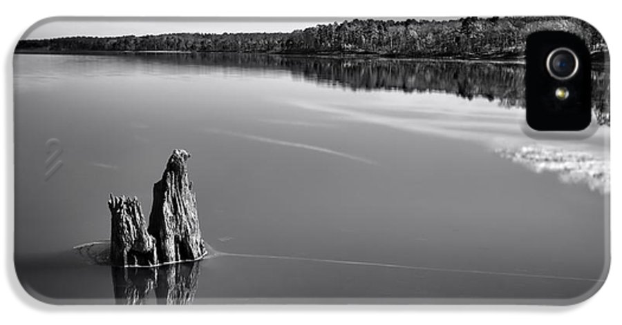 Jordan Lake IPhone 5 Case featuring the photograph Jordan Lake Reflections II by Ben Shields