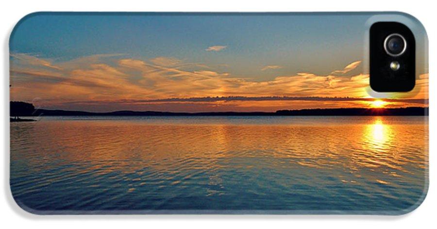 Jordan Lake IPhone 5 Case featuring the photograph Jordan Lake Sunset 2 by Kelly Nowak