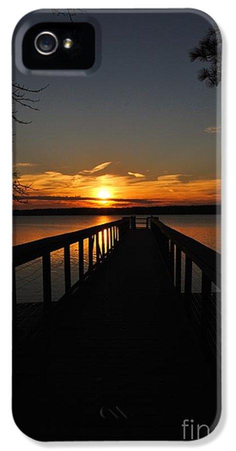 Jordan Lake IPhone 5 Case featuring the photograph Jordan Lake Sunset by Kelly Nowak