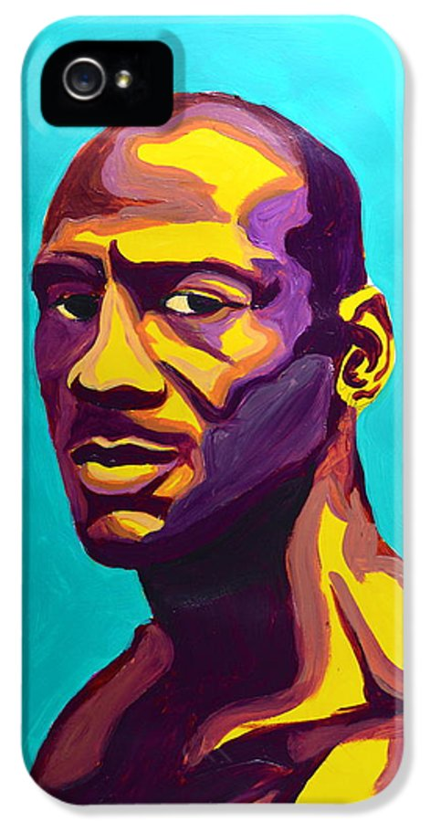 Mj IPhone 5 Case featuring the painting Jordan by LLaura Burge