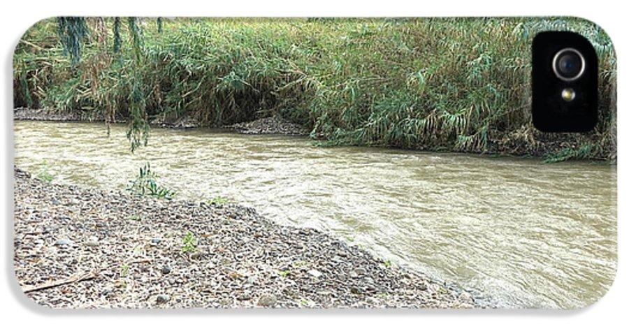 Jordan River IPhone 5 Case featuring the photograph Jordan River After The Rains by Rita Adams