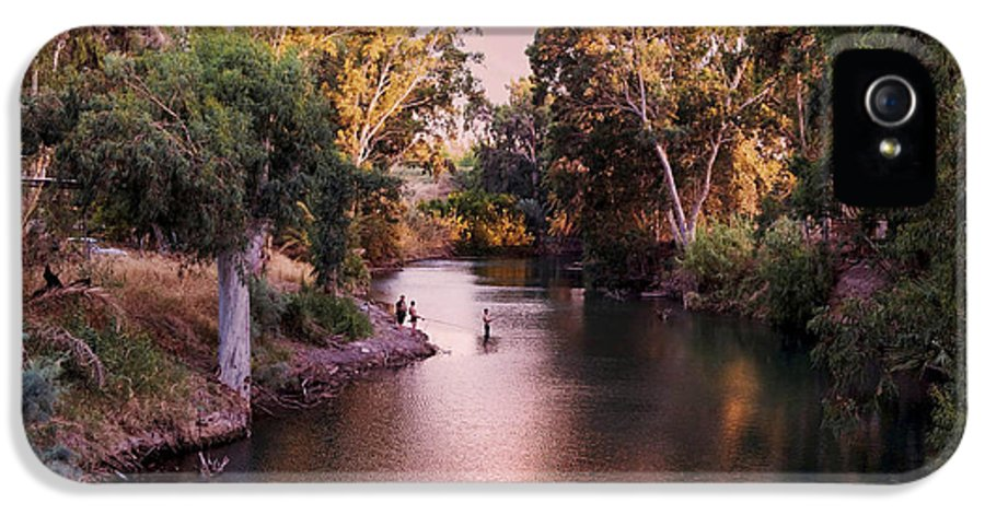 Jordan River IPhone 5 Case featuring the photograph Jordan River At Dusk by Lawrence Berke