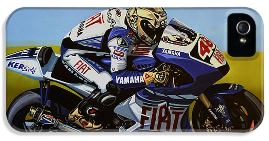 Jorge Lorenzo IPhone 5 Case featuring the painting Jorge Lorenzo by Paul Meijering