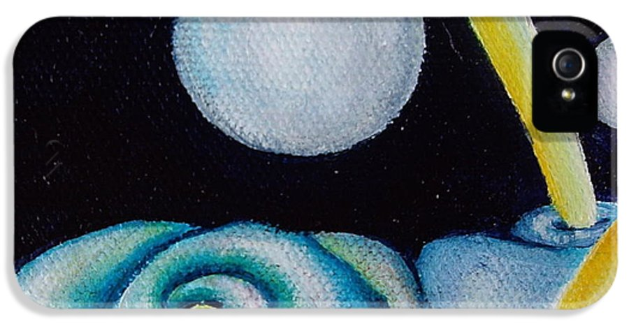 Outer Space IPhone 5 Case featuring the painting Jovian Gretings by Eliza Furmansky