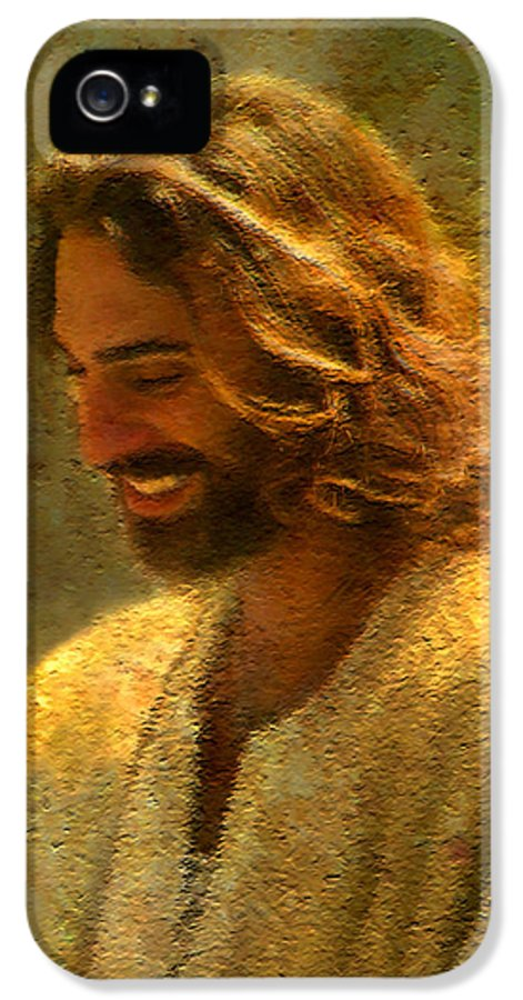 Jesus IPhone 5 Case featuring the painting Joy Of The Lord by Greg Olsen