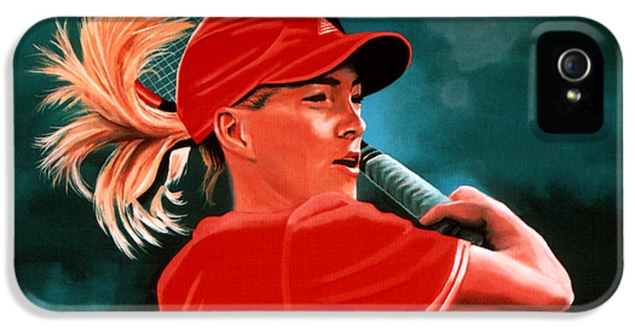 Justine Henin IPhone 5 Case featuring the painting Justine Henin by Paul Meijering
