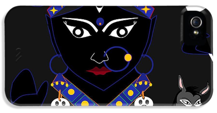 Nava Durga IPhone 5 Case featuring the digital art Kaalraatri by Pratyasha Nithin