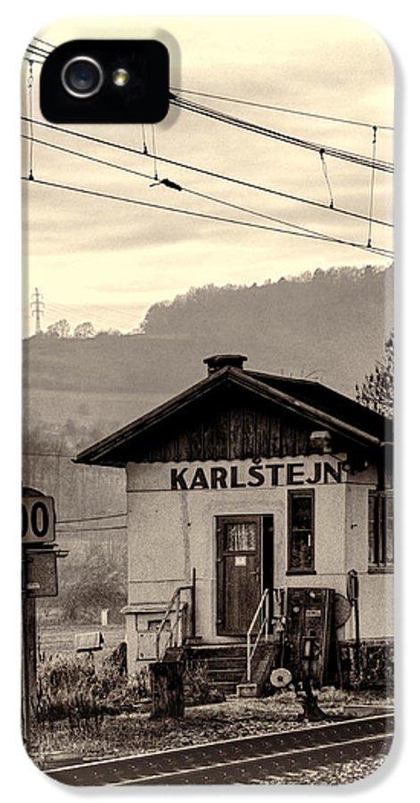 Joan Carroll IPhone 5 Case featuring the photograph Karlstejn Railroad Shack by Joan Carroll