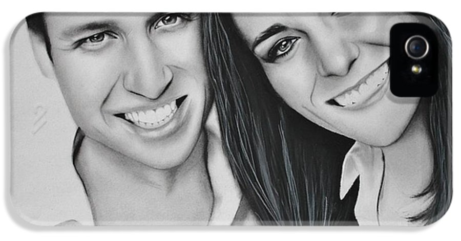 Kate And William IPhone 5 Case featuring the drawing Kate And William by Samantha Howell