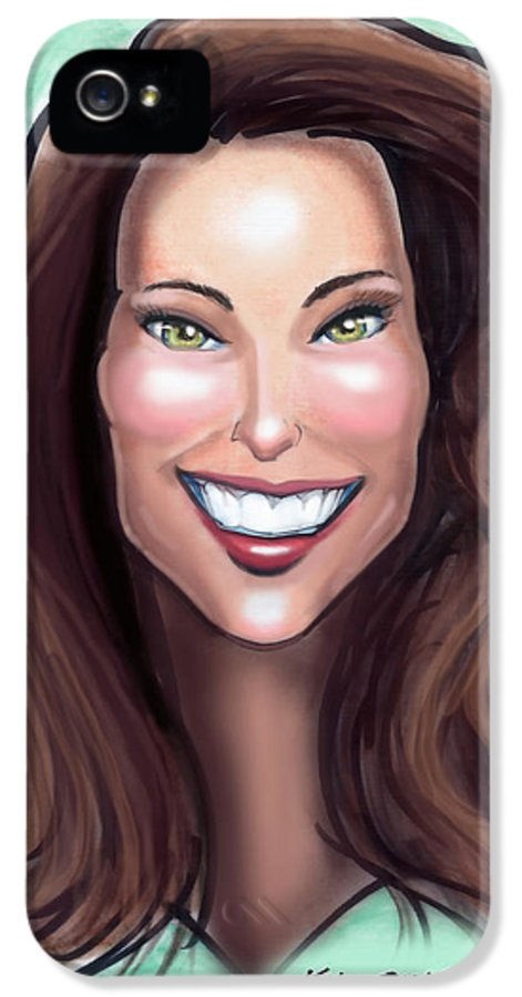 Kate Middleton IPhone 5 Case featuring the painting Kate Middleton by Kevin Middleton