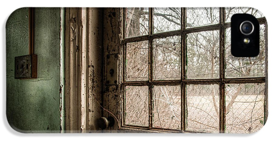 Abandoned IPhone 5 Case featuring the photograph Keep Door Locked by Gary Heller