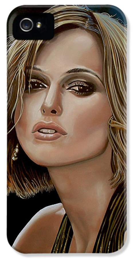 Keira Knightley IPhone 5 Case featuring the painting Keira Knightley by Paul Meijering
