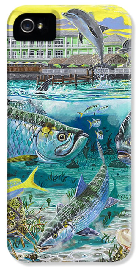 Grand Slam IPhone 5 Case featuring the painting Key Largo Grand Slam by Carey Chen