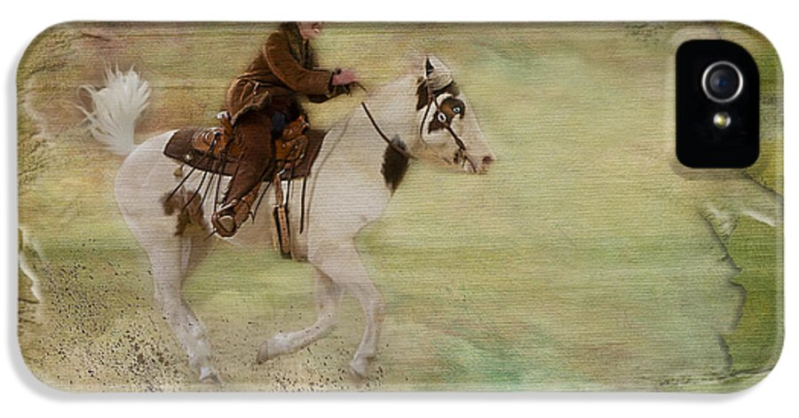 Animals IPhone 5 Case featuring the photograph Kicking Up Some Dirt by Susan Candelario