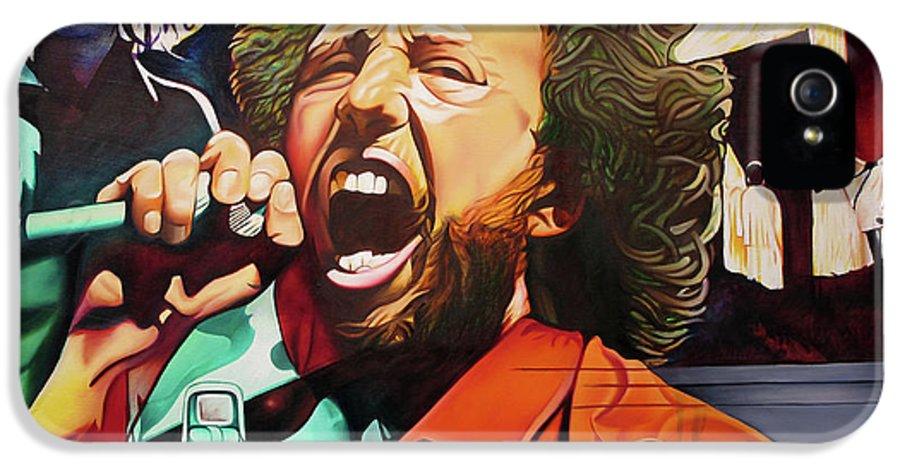 Zack De La Rocha IPhone 5 Case featuring the painting Killing In The Name by Joshua Morton