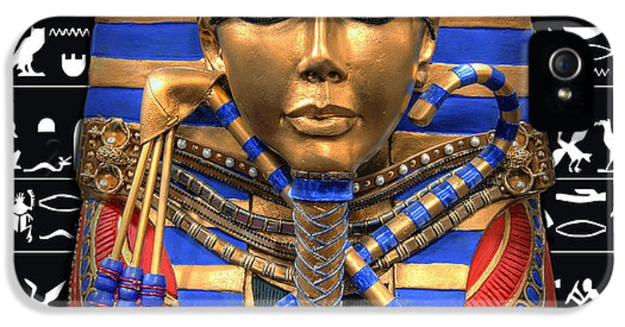 Egypt IPhone 5 Case featuring the digital art King Of Egypt by Daniel Hagerman