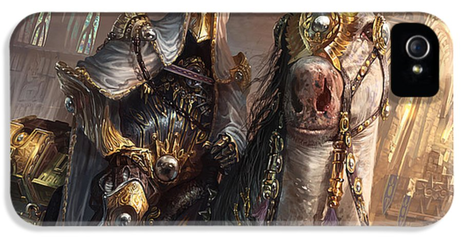 Magic The Gathering IPhone 5 Case featuring the digital art Knight Of Obligation by Ryan Barger