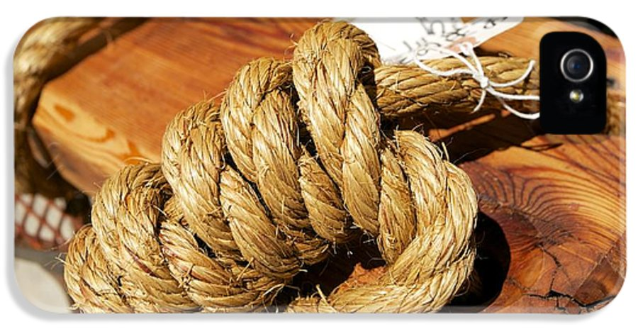 Antique IPhone 5 Case featuring the photograph Knotted Hemp by Allan Morrison