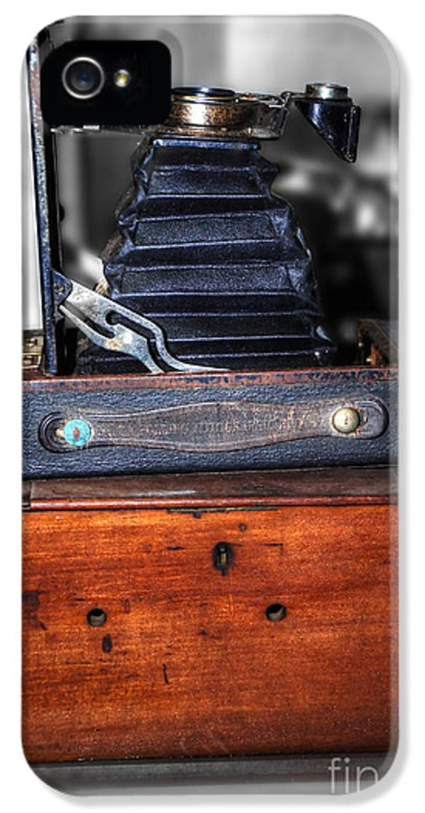 Photography IPhone 5 Case featuring the photograph Kodak Folding Autographic Brownie 2-a by Kaye Menner