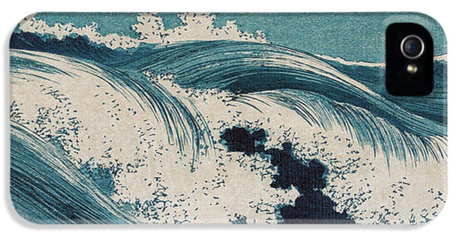 Waves IPhone 5 Case featuring the digital art Konen Uehara Waves by Georgia Fowler