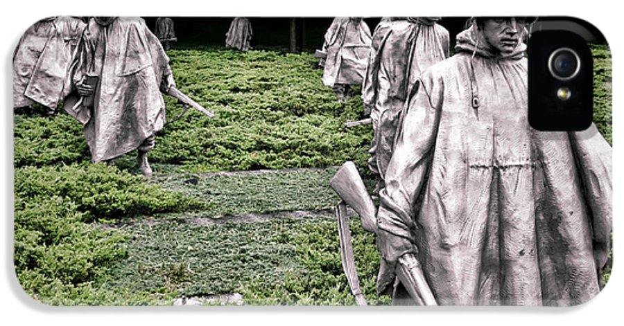 Washington IPhone 5 Case featuring the photograph Korean War Veterans Memorial by Olivier Le Queinec
