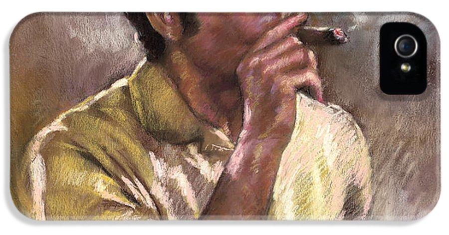 Kramer IPhone 5 Case featuring the pastel Kramer by Ylli Haruni