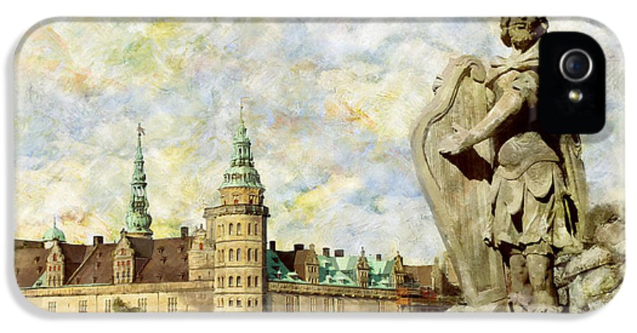 Denmark Art IPhone 5 Case featuring the painting Kronborg Castle by Catf