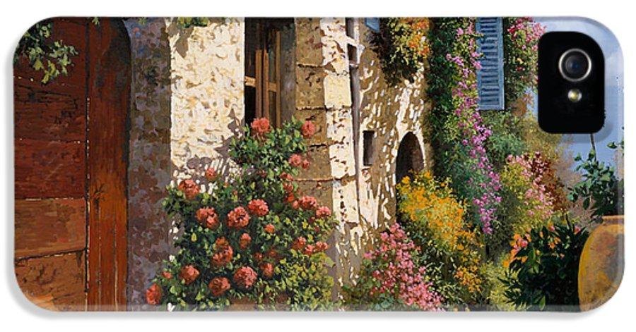 Street Scene IPhone 5 Case featuring the painting La Bella Strada by Guido Borelli