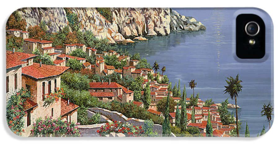 Seascape IPhone 5 Case featuring the painting La Costa by Guido Borelli