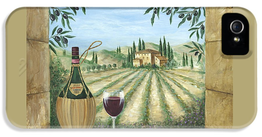 Tuscany IPhone 5 Case featuring the painting La Dolce Vita by Marilyn Dunlap