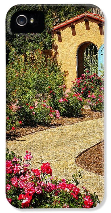 La Posada Prints IPhone 5 Case featuring the photograph La Posada Gardens In Winslow Arizona by Priscilla Burgers