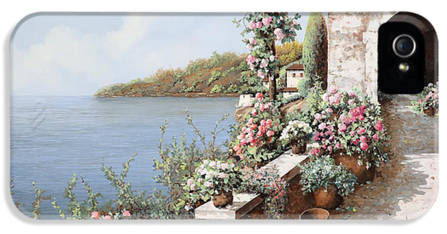 Coastal IPhone 5 Case featuring the painting La Terrazza by Guido Borelli