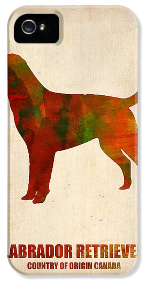 Labrador Retriever IPhone 5 Case featuring the painting Labrador Retriever Poster by Naxart Studio
