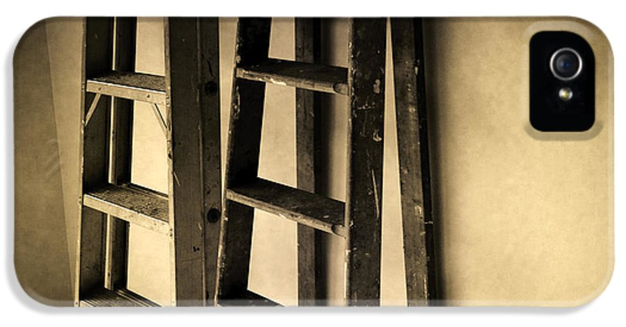 Diy IPhone 5 Case featuring the photograph Ladders by Les Cunliffe
