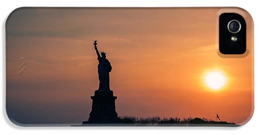 Liberty Island IPhone 5 Case featuring the photograph Lady Liberty by Ray Warren