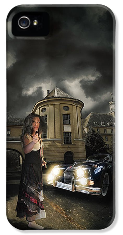 Car IPhone 5 Case featuring the digital art Lady Of The Night by Nathan Wright