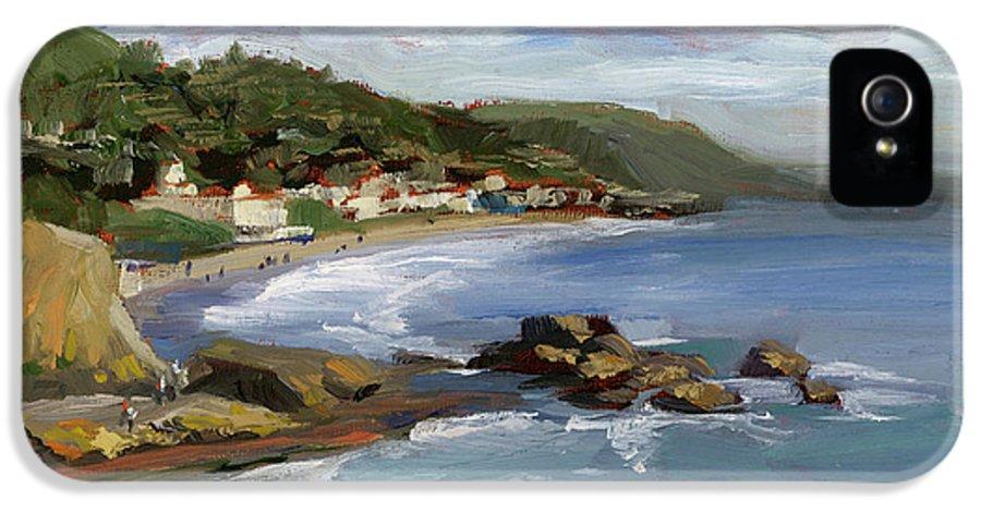 Laguna Beach IPhone 5 Case featuring the painting Laguna Beach by Alice Leggett