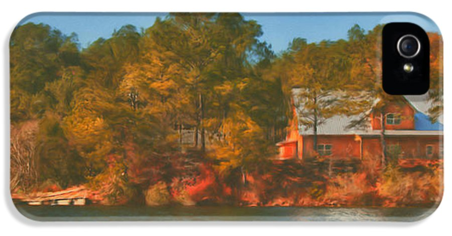 Farm IPhone 5 Case featuring the photograph Lake House by Brenda Bryant