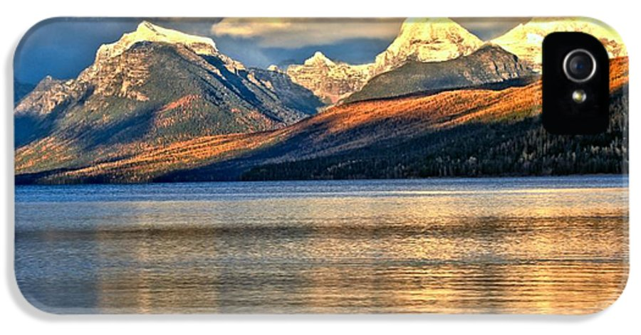 Glacier National Park IPhone 5 Case featuring the photograph Lake Mcdonald Sunset by Adam Jewell