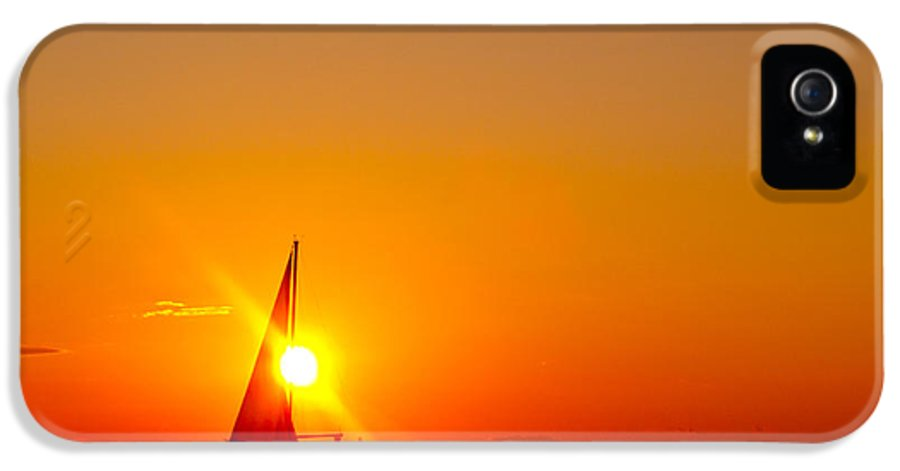 Lake Michigan IPhone 5 Case featuring the photograph Lake Michigan Sunset by Bill Gallagher