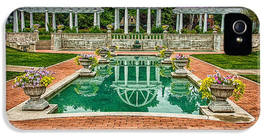 Park IPhone 5 Case featuring the photograph Lakeside Park Wedding Pavilion II by Gene Sherrill