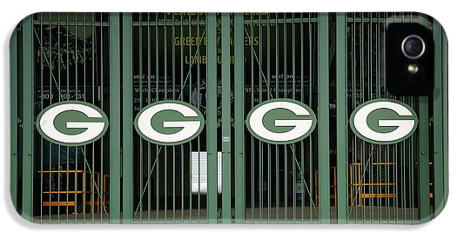 America IPhone 5 Case featuring the photograph Lambeau Field - Green Bay Packers by Frank Romeo