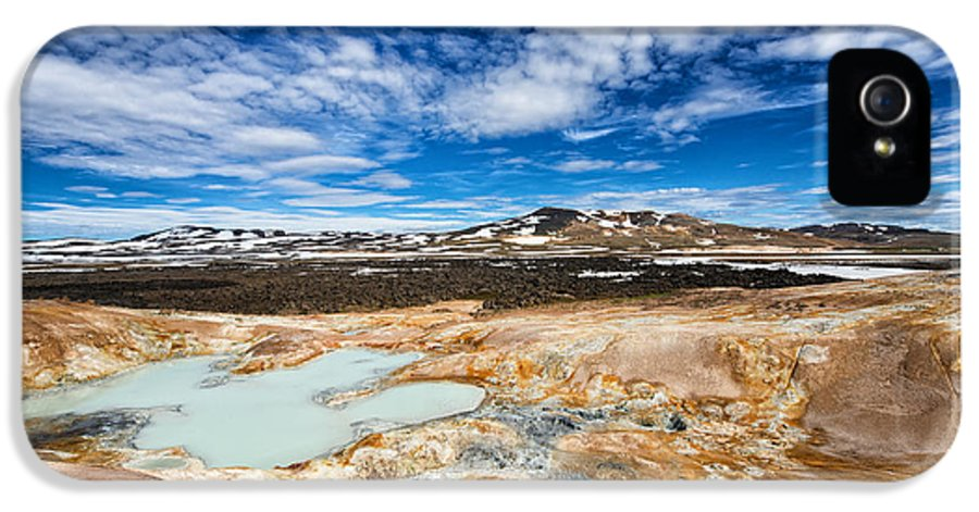Iceland IPhone 5 Case featuring the photograph Landscape In North Iceland Leirhnjukur by Matthias Hauser