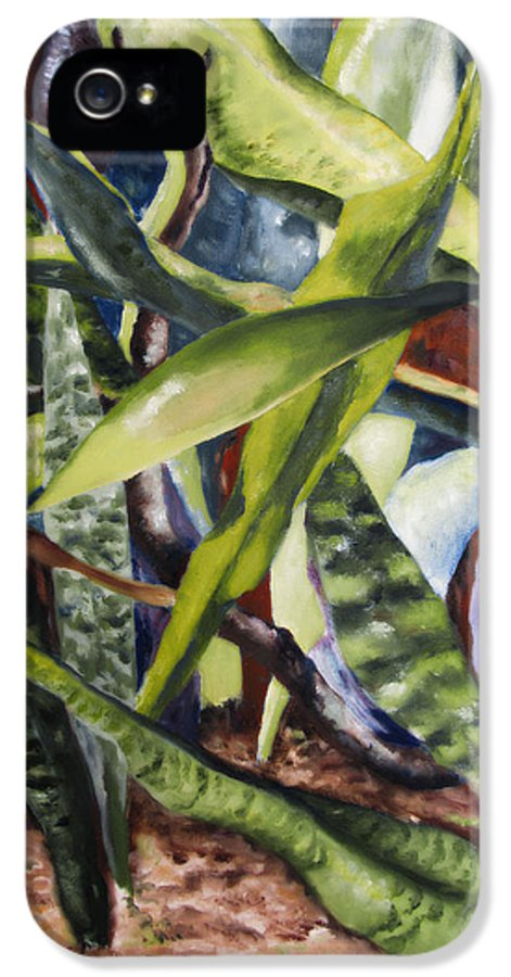 Cactus IPhone 5 Case featuring the painting Languid Cactii by Lisa Boyd