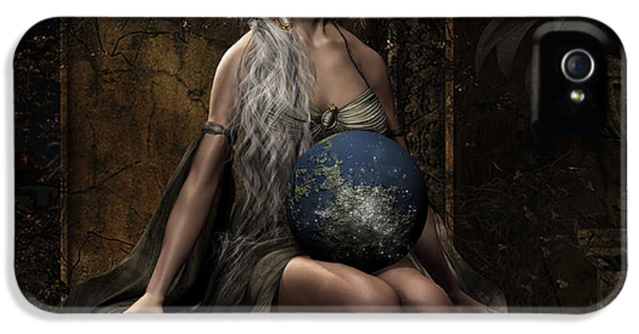 Lap Of The Gods IPhone 5 Case featuring the digital art Lap Of The Gods by Shanina Conway