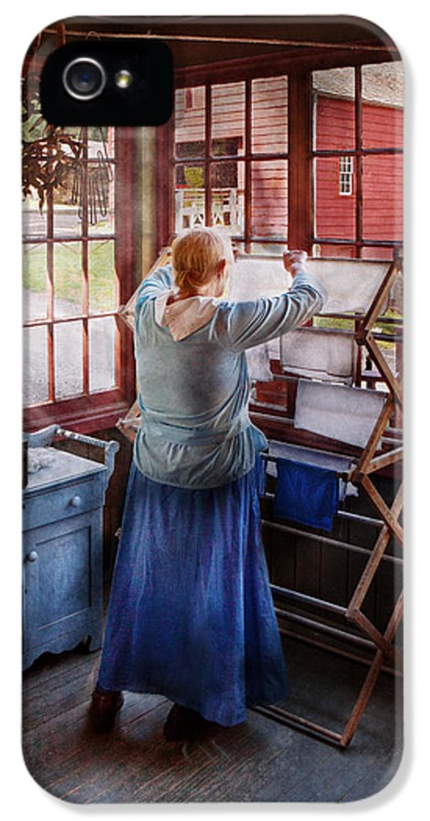 Miss Lady Blue IPhone 5 Case featuring the photograph Laundry - Miss Lady Blue by Mike Savad