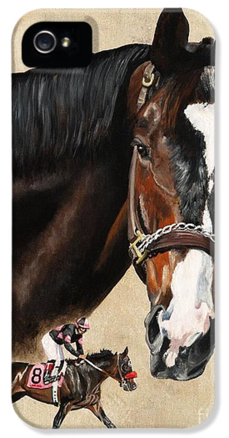 Lava Man IPhone 5 Case featuring the painting Lava Man by Pat DeLong