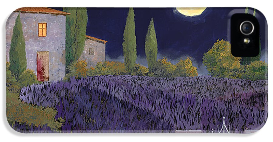 Tuscany IPhone 5 Case featuring the painting Lavanda Di Notte by Guido Borelli